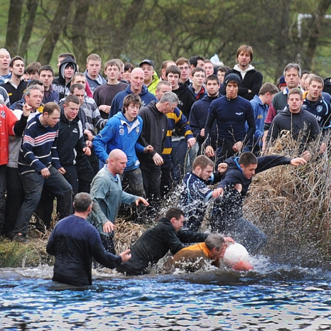 Ashbourne Shrovetide Football.