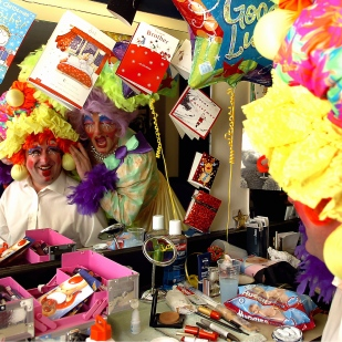 Derby Telegraph reporter Martin Naylor becomes a pantomime dame for the day