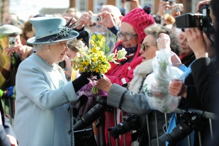 Queen Elizabeth visits Derby Cathedral for the 800th Royal Maundy ceremony.