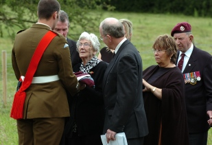 Ivy Nye at the funeral of her husband George Nye, who died aged 88. He was one of the last remaining glider pilots from World War II.