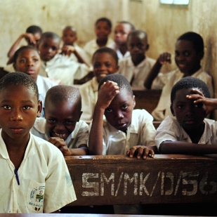 Children ready to learn in Tanzania.