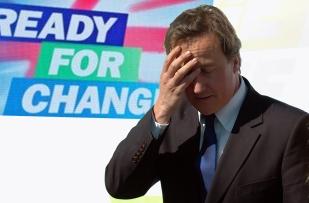 David Cameron feels the pressure.