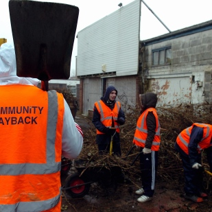 Probationers on the Community Payback scheme.