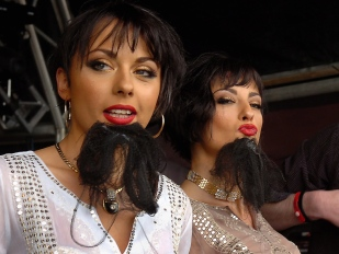 The Cheeky Girls at Bearded Theory Festival.