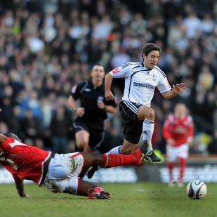 Derby County's Lee Johnson.